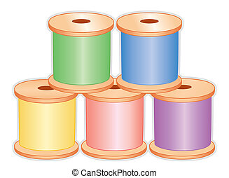 Spools of Pastel Thread - Spools of thread in pastel colors...