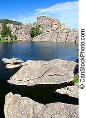 Sylvan Lake - South Dakota - Huge rocks in beautiful Sylvan...