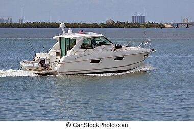 Sport Fishing Boat - Sport fishing boat cruising the florida...