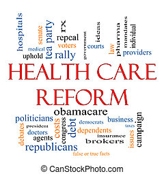 Health Care Reform Word Cloud Concept with great terms such...