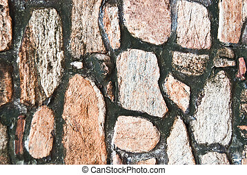stone rock pattern - detail of stone rock pattern-wall made...