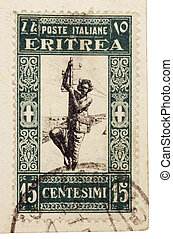 Stamp from Eritrea - ITALY - CIRCA 1936: a stamp printed by...