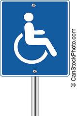 Wheelchair Handicap Sign