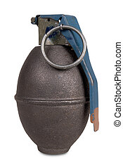 Hand grenade isolated over a white background
