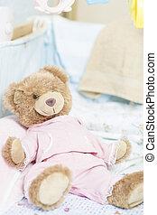 teddy bear toy for a newborn - toy teddy bear in a cradle...