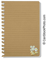 brown note paper in shellfish style