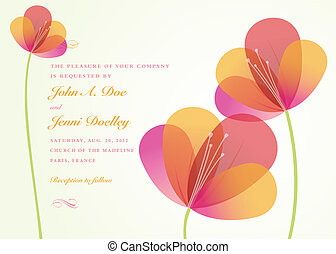 Vector Flower Background. Easy to edit. All floral pieces...