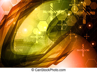Abstract science technology backgro