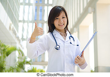 asian chinese medical student