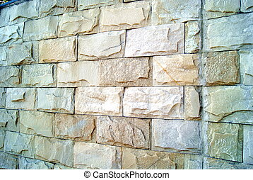 Rock wall - A close-up of artificial walls