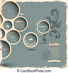 Retro design bubbles on grunge backgroundVector eps10
