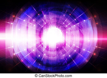 abstract colorful light beam
