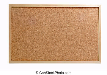 Pinboard - Emtyto the corkboard isolated on white...