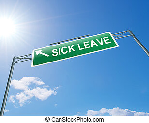 Sick leave concept. - Illustration depicting a highway...