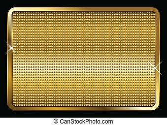 Gold Plated - Vector illustration of a gold plate isolated...