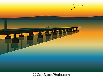 Pier - Vector illustration of a pier
