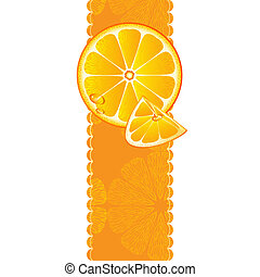 Vertical banner with orange fruit - Vertical banner with...