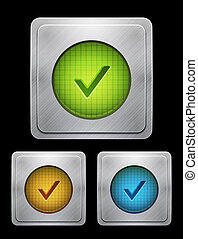 Vector tick phone button - Vector mobile app icon button