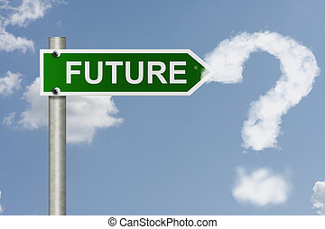 What is in your future - An American road signs word future...
