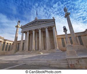 les, national, académie, Athènes, Grèce