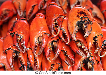 pile of craw crabs