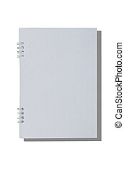 isolated blank notebook on white background