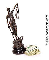 Displacing justice - A picture of a Themis statue being...