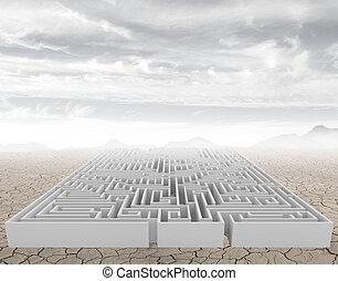 The maze - A complicated maze in a arid desert