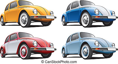 classical car No5 - Detailed image of vintage car isolated...