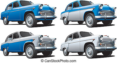 Classical Car No1 - Detailed image of vintage car isolated...
