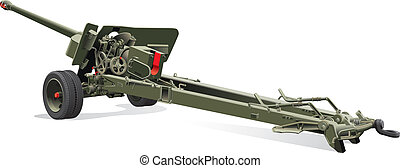 old field gun - Vector detailed image of field gun of times...
