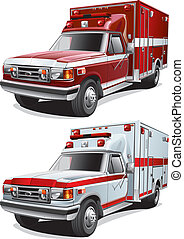 service cars - detailed image of two service cars, isolated...