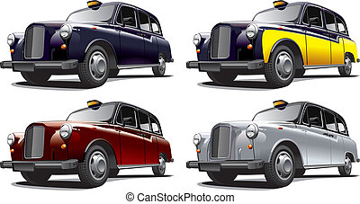 classical car No2 - Detailed image of vintage taxi cab,...