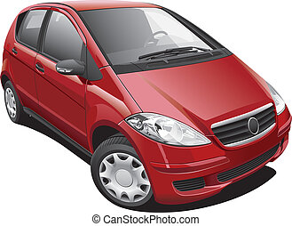 European Modern Minivan - Detailed image of modern minivan,...