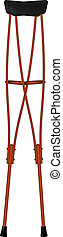 Retro wooden crutches