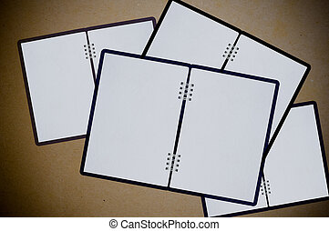 white notebooks