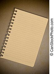brown note paper on the old paper