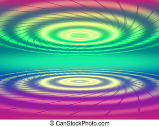 abstract color concentric circles - two abstract color...