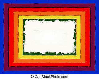 color frame - Different color rectangle frame with white...