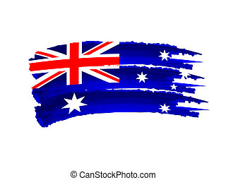 Australian flag - Illustration of Isolated hand drawn...