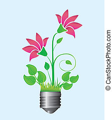 ecological illustration of a flower