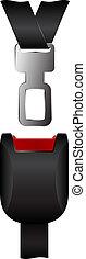Safety belt - Illustration of safety belt isolated on white...