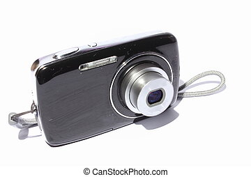 Digital Camera - Isolated black and silver digital camera