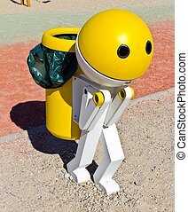 Robot Garbage Can - Garbage can with the shape of a robot...