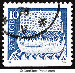 Postage stamp Sweden 1973 Viking Ship - SWEDEN - CIRCA 1973:...