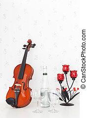 violín, cuero, textura, Plano de fondo