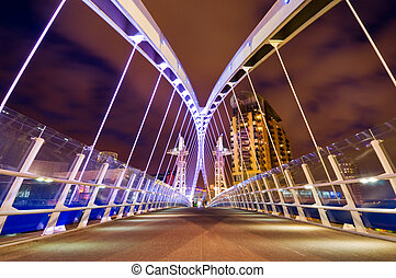 millenium bridge manchester - Millennium bridge at Salford...