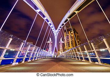 millenium bridge manchester - Millennium bridge at Salford...