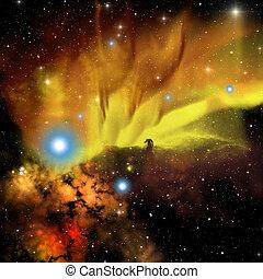 Horsehead Nebula - The Horsehead Nebula is a dark nebula in...