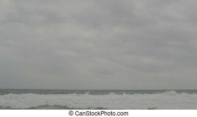 Gray sea shore